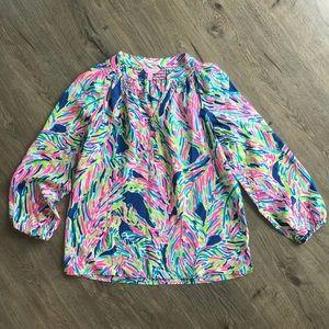 Lily Pulitzer Multi Colored Silk Blouse M
